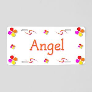 Angel 1 Aluminum License Plate