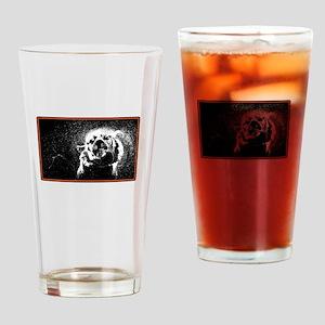 shake off the rain tiger Drinking Glass