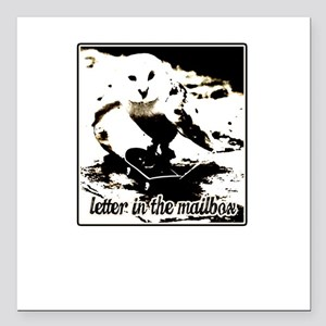 letter in the mailbox stater owl Square Car Magnet