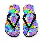 Multi Colored Jigsaw Flip Flops