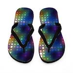 Neon Lights Abstract Flip Flops