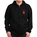Rabbit-en-face-2000.png Zip Hoodie (dark)