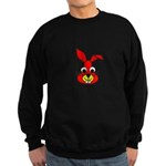 Rabbit-en-face-2000.png Sweatshirt (dark)