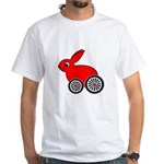hare-with-wheels.png White T-Shirt