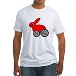 hare-with-wheels.png Fitted T-Shirt