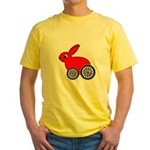 hare-with-wheels Yellow T-Shirt