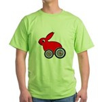 hare-with-wheels Green T-Shirt