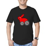 hare-with-wheels.png Men's Fitted T-Shirt (dark)