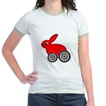 hare-with-wheels Jr. Ringer T-Shirt