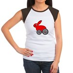 hare-with-wheels.png Women's Cap Sleeve T-Shirt