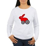 hare-with-wheels.png Women's Long Sleeve T-Shirt