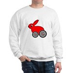 hare-with-wheels.png Sweatshirt