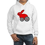 hare-with-wheels.png Hooded Sweatshirt