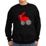 hare-with-wheels.png Sweatshirt (dark)