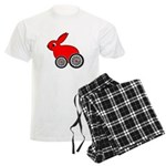 hare-with-wheels.png Men's Light Pajamas