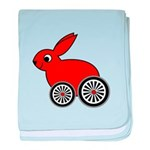 hare-with-wheels baby blanket