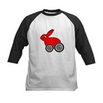 hare-with-wheels.png Kids Baseball Jersey