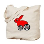 hare-with-wheels Tote Bag