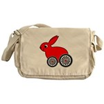 hare-with-wheels Messenger Bag