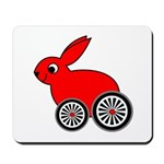 hare-with-wheels Mousepad