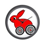 hare-with-wheels Wall Clock