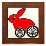 hare-with-wheels Framed Tile