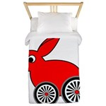 hare-with-wheels Twin Duvet