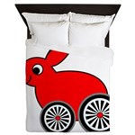 hare-with-wheels Queen Duvet