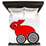 hare-with-wheels King Duvet