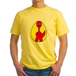 Dino-Saurus - In the Egg Yellow T-Shirt