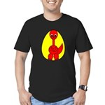 Dino-Saurus - In the Egg Men's Fitted T-Shirt (dar