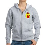 Dino-Saurus - In the Egg Women's Zip Hoodie