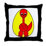 Dino-Saurus - In the Egg Throw Pillow
