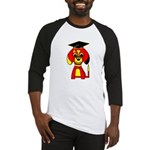 Red Beagle Dog Baseball Jersey