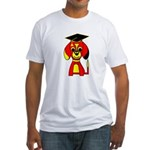 Red Beagle Dog Fitted T-Shirt