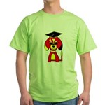 Red Beagle Dog Green T-Shirt