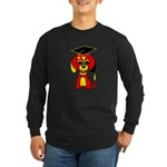 Red Beagle Dog Long Sleeve Dark T-Shirt