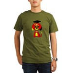 Red Beagle Dog Organic Men's T-Shirt (dark)