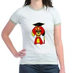 Red Beagle Dog Jr. Ringer T-Shirt