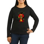 Red Beagle Dog Women's Long Sleeve Dark T-Shirt