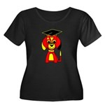 Red Beagle Dog Women's Plus Size Scoop Neck Dark T