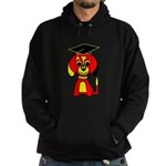 Red Beagle Dog Hoodie (dark)