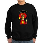 Red Beagle Dog Sweatshirt (dark)