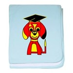 Red Beagle Dog baby blanket