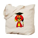 Red Beagle Dog Tote Bag