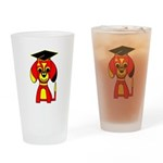 Red Beagle Dog Drinking Glass