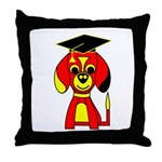 Red Beagle Dog Throw Pillow