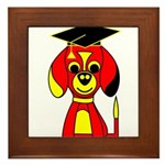 Red Beagle Dog Framed Tile
