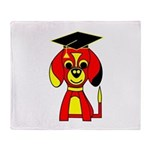 Red Beagle Dog Throw Blanket