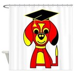 Red Beagle Dog Shower Curtain